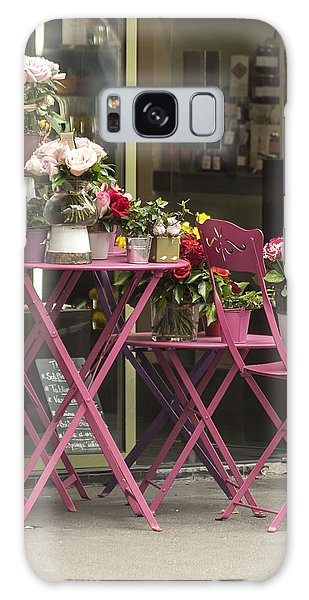 Pink Flower Table Paris Galaxy Case