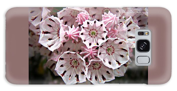 Pink Flowered Mountain Laurel Galaxy Case