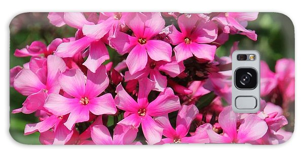Pink Flowers Galaxy Case by Bill Woodstock