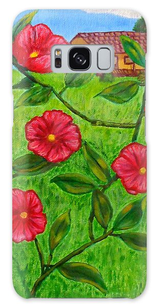 Pink Flowers Galaxy Case by Sheri Keith