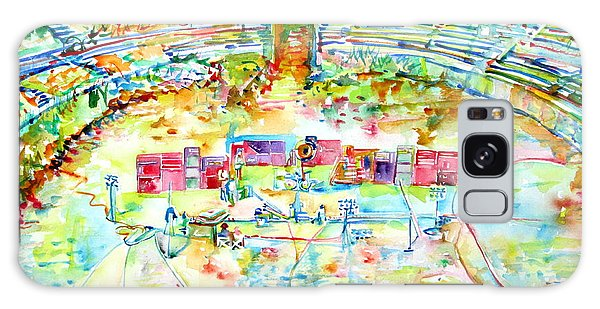 Pink Floyd Live At Pompeii Watercolor Painting Galaxy Case