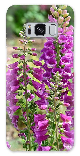 Pink Foxglove Flowers Galaxy Case by P S