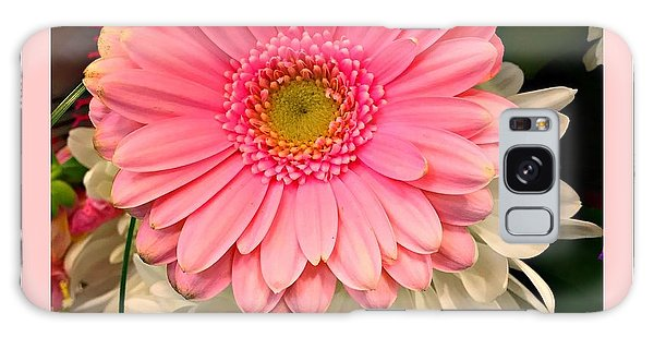 Pink Gerber Daisy Galaxy Case