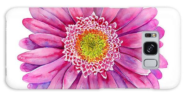 Pink Flower Galaxy Case - Pink Gerbera Daisy by Amy Kirkpatrick