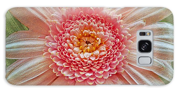 Pink Gerbera Textured Galaxy Case