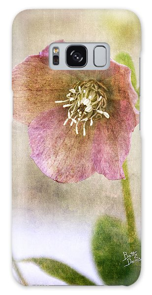 Pink Hellebore Galaxy Case by Betty Denise