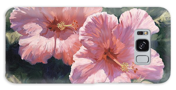 Hibiscus Galaxy Case - Pink Hibiscus by Laurie Snow Hein