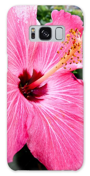 Pink Hibiscus Galaxy Case