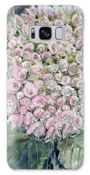 Pink Hydrangea Galaxy Case by Louise Peardon