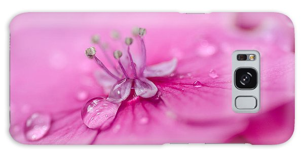 Pink Hydrangea Galaxy Case by Martina Fagan