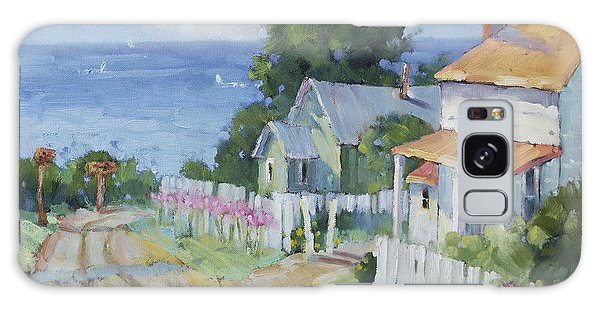 Pink Lady Lilies By The Sea By Joyce Hicks Galaxy Case