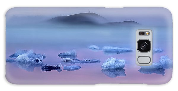 Ice Galaxy Case - Pink Lake And Photographers by Shenshen Dou