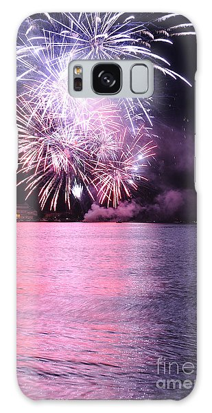 Pink Lake Galaxy Case by Simona Ghidini