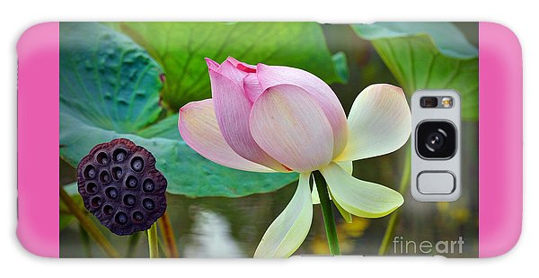 Pink Lotus Galaxy Case by Savannah Gibbs