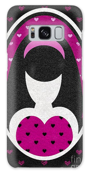 Pink Love Heart Girl Galaxy Case