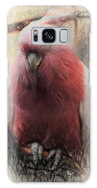 Pink Painted Parrot Galaxy Case by Terry Cork