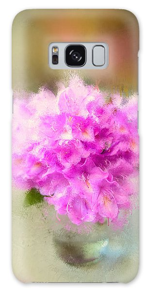 Pink Painted Rhododendrom Galaxy Case by Mary Timman