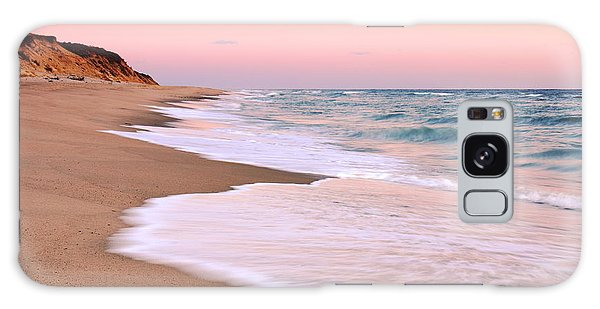 Pink Pastel Beach And Sky Galaxy Case by Roupen  Baker
