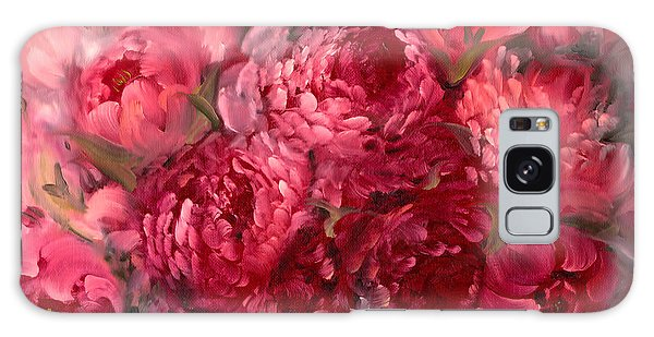 Pink Peonies Galaxy Case