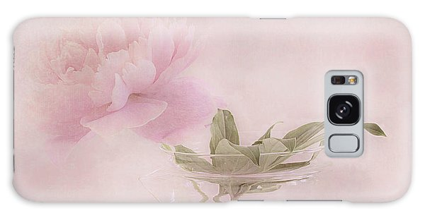 Pink Peony Blossom In Clear Glass Tea Pot Galaxy Case by Sandra Foster