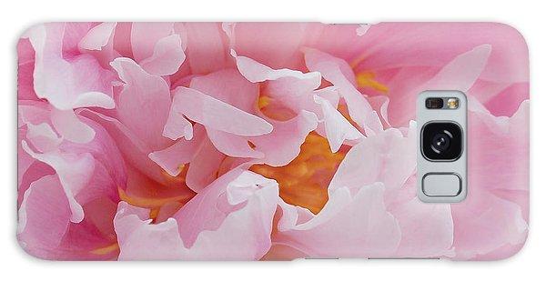 Pink Peony Flower Waving Petals  Galaxy Case
