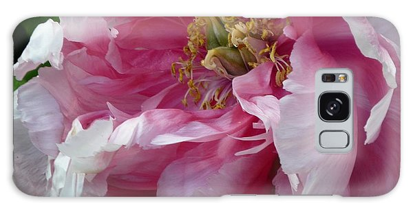 Pink Peony Open Wide Galaxy Case by Jeanette Oberholtzer
