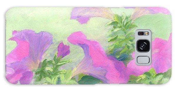 Pink Petunias Beautiful Flowers Art Colorful Original Garden Floral Flower Artist K. Joann Russell  Galaxy Case