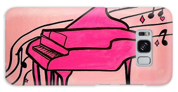 Pink Piano Galaxy Case