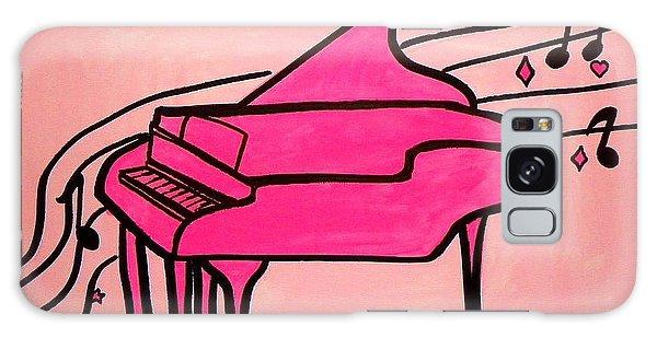 Pink Piano Galaxy Case by Marisela Mungia