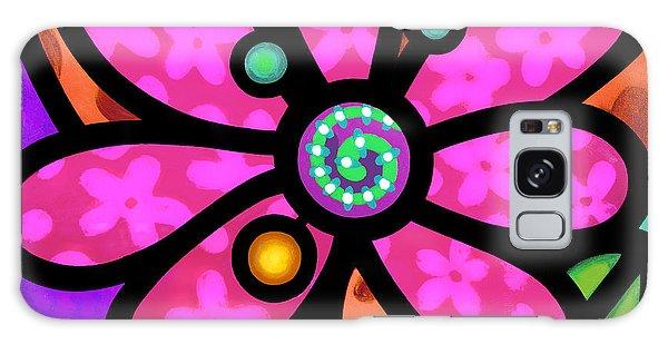 Pink Pinwheel Daisy Galaxy Case