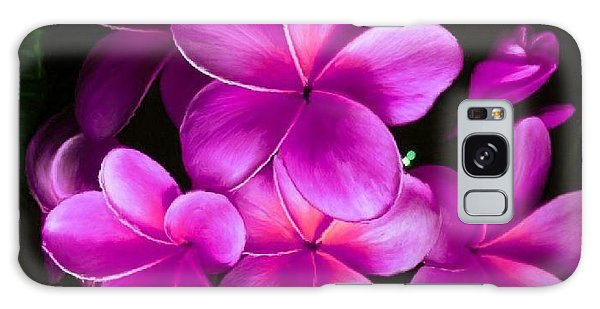 Pink Plumeria Galaxy Case by Bruce Nutting