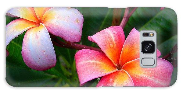 Pink Plumeria Galaxy Case by Christy Usilton