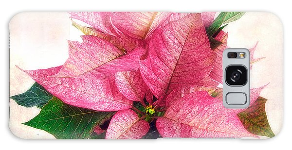 Pink Poinsettia Galaxy Case
