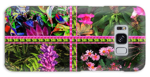 Pink Purple Flowers Captured At The Riverside Ridge At Oakville Ontario Canada Collage Beautiful     Galaxy Case by Navin Joshi