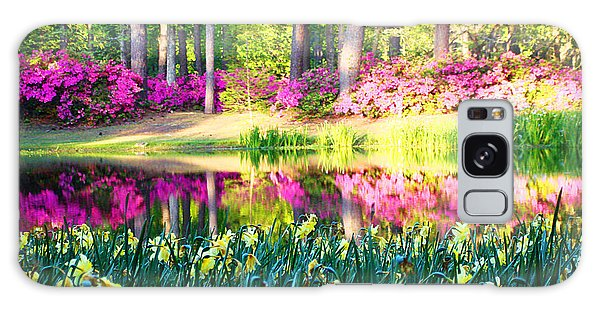 Pink Reflections By Jan Marvin Galaxy Case