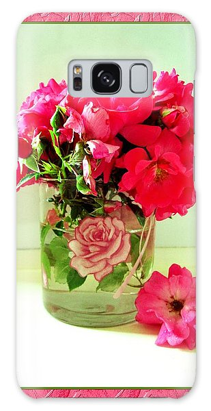 Pink Ribbon Roses Galaxy Case