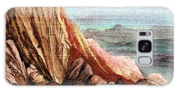 Pink Rocks Galaxy Case by Mikhail Savchenko