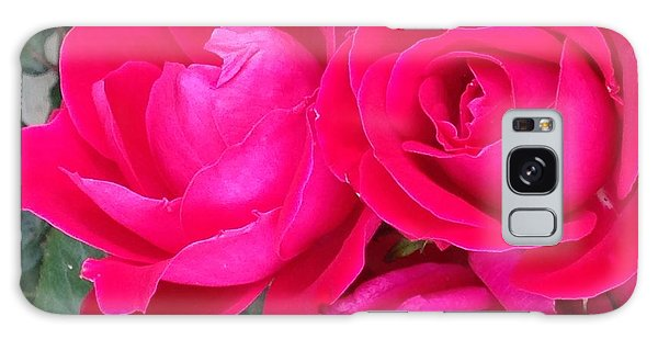 Pink Rose Blossoms Galaxy Case