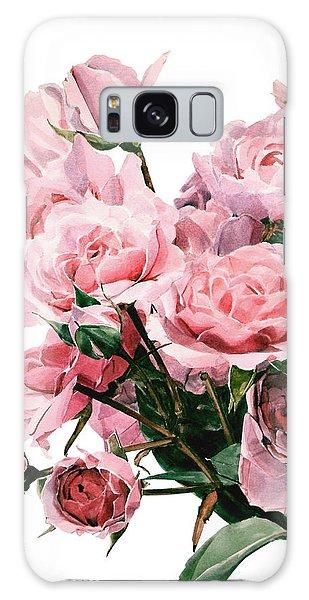 Pink Rose Bouquet Galaxy Case