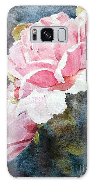 Pink Rose Caroline Galaxy Case