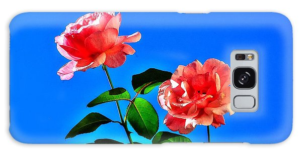 Pink Rose Galaxy Case by Ed Roberts