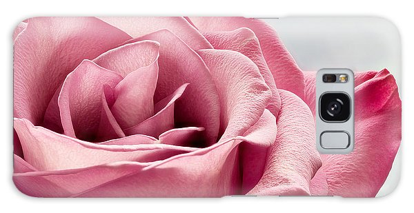 Pink Rose Macro Galaxy Case