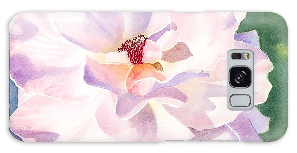 Pink Rose - Transparent Watercolor Galaxy Case