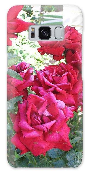Pink Roses Galaxy Case by Chrisann Ellis