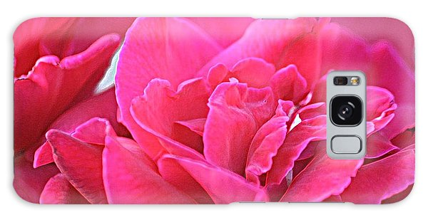 Pink Roses Galaxy Case by Donna G Smith