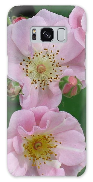 Pink Roses Galaxy Case