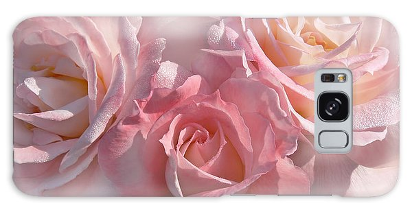 Pink Roses In The Mist Galaxy Case