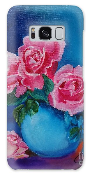 Pink Roses Galaxy Case by Jenny Lee