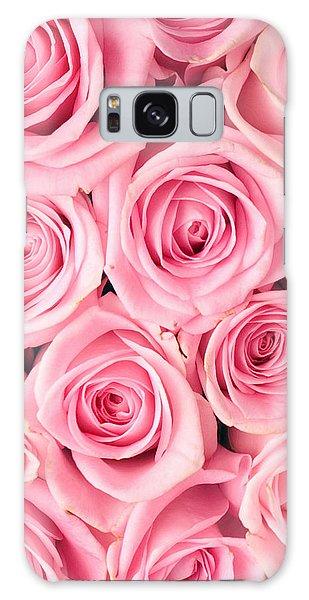 Pink Roses Galaxy Case by Munir Alawi