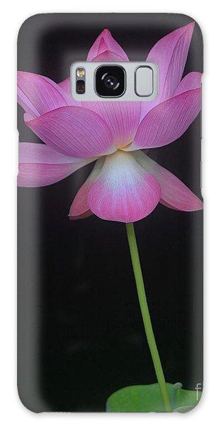 Pink Spaces Lotus Galaxy Case by Dodie Ulery